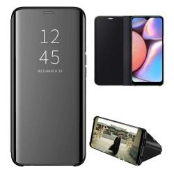 Funda Flip Cover Clear View para Samsung Galaxy A01 color Negra