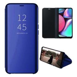 Funda Flip Cover Clear View para Samsung Galaxy A01 color Azul