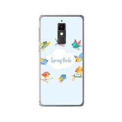 Funda Gel Tpu para Elephone S3 Diseño Spring Birds Dibujos