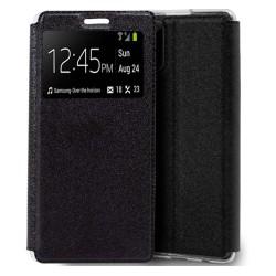 Funda Libro Soporte con Ventana para Samsung Galaxy Note 20 color Negra