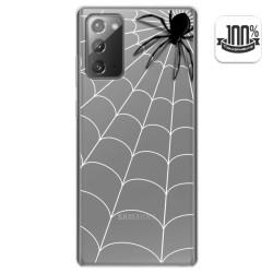 Funda Gel Transparente para Samsung Galaxy Note 20 diseño Araña Dibujos