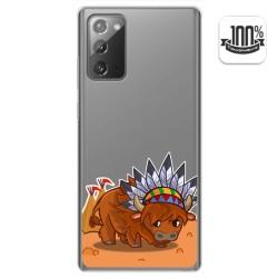 Funda Gel Transparente para Samsung Galaxy Note 20 diseño Bufalo Dibujos