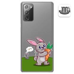 Funda Gel Transparente para Samsung Galaxy Note 20 diseño Conejo Dibujos