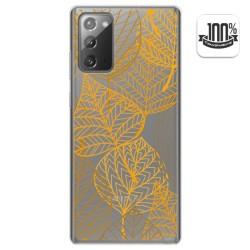 Funda Gel Transparente para Samsung Galaxy Note 20 diseño Hojas Dibujos