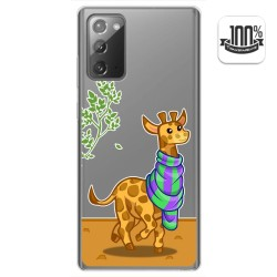 Funda Gel Transparente para Samsung Galaxy Note 20 diseño Jirafa Dibujos