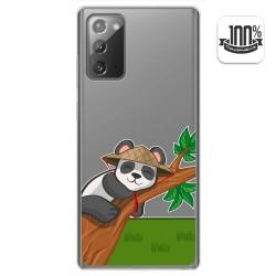 Funda Gel Transparente para Samsung Galaxy Note 20 diseño Panda Dibujos