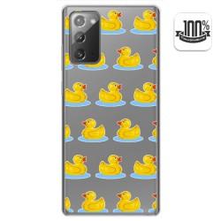 Funda Gel Transparente para Samsung Galaxy Note 20 diseño Pato Dibujos