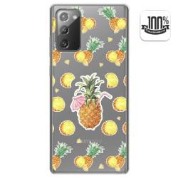 Funda Gel Transparente para Samsung Galaxy Note 20 diseño Piña Dibujos