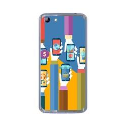 Funda Gel Tpu para Elephone S7 Diseño Apps Dibujos