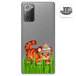 Funda Gel Transparente para Samsung Galaxy Note 20 diseño Tigre Dibujos