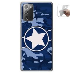 Funda Gel Tpu para Samsung Galaxy Note 20 diseño Camuflaje 03 Dibujos