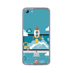 Funda Gel Tpu para Elephone S7 Diseño Cohete Dibujos