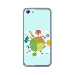 Funda Gel Tpu para Elephone S7 Diseño Familia Dibujos