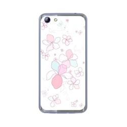 Funda Gel Tpu para Elephone S7 Diseño Flores Minimal Dibujos