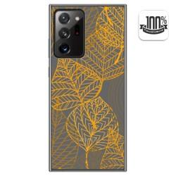 Funda Gel Transparente para Samsung Galaxy Note 20 Ultra diseño Hojas Dibujos