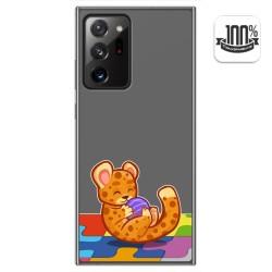 Funda Gel Transparente para Samsung Galaxy Note 20 Ultra diseño Leopardo Dibujos