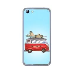 Funda Gel Tpu para Elephone S7 Diseño Furgoneta Dibujos