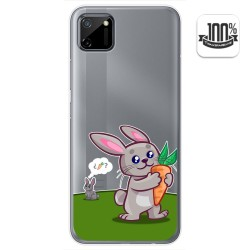 Funda Gel Transparente para Realme C11 diseño Conejo Dibujos