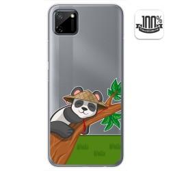 Funda Gel Transparente para Realme C11 diseño Panda Dibujos