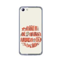 Funda Gel Tpu para Elephone S7 Diseño Mundo Libro Dibujos