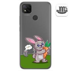 Funda Gel Transparente para Xiaomi Redmi 9C diseño Conejo Dibujos