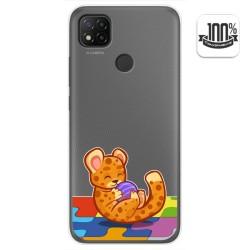 Funda Gel Transparente para Xiaomi Redmi 9C diseño Leopardo Dibujos