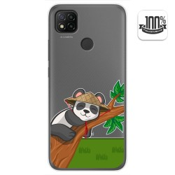 Funda Gel Transparente para Xiaomi Redmi 9C diseño Panda Dibujos