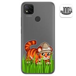 Funda Gel Transparente para Xiaomi Redmi 9C diseño Tigre Dibujos