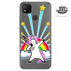 Funda Gel Transparente para Xiaomi Redmi 9C diseño Unicornio Dibujos