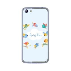 Funda Gel Tpu para Elephone S7 Diseño Spring Birds Dibujos