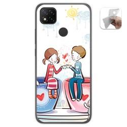 Funda Gel Tpu para Xiaomi Redmi 9C diseño Café Dibujos