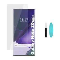 Protector Cristal Templado Completo Curvo UV Full Glue para Samsung Galaxy Note 20 Ultra Vidrio