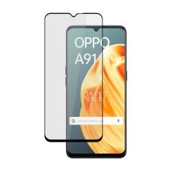 Protector Cristal Templado Completo 5D Full Glue Negro para Oppo A91 Vidrio