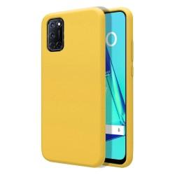 Funda Silicona Líquida Ultra Suave para Oppo A52 / A72 color Amarilla