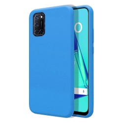 Funda Silicona Líquida Ultra Suave para Oppo A52 / A72 color Azul