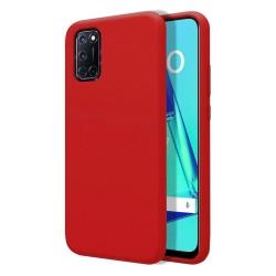 Funda Silicona Líquida Ultra Suave para Oppo A52 / A72 color Roja