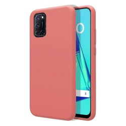 Funda Silicona Líquida Ultra Suave para Oppo A52 / A72 color Rosa