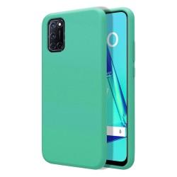 Funda Silicona Líquida Ultra Suave para Oppo A52 / A72 color Verde