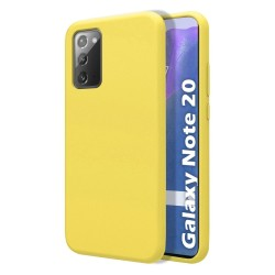 Funda Silicona Líquida Ultra Suave para Samsung Galaxy Note 20 color Amarilla