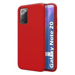 Funda Silicona Líquida Ultra Suave para Samsung Galaxy Note 20 color Roja
