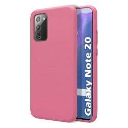 Funda Silicona Líquida Ultra Suave para Samsung Galaxy Note 20 color Rosa