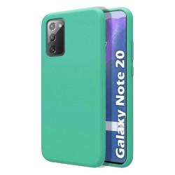 Funda Silicona Líquida Ultra Suave para Samsung Galaxy Note 20 color Verde