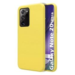 Funda Silicona Líquida Ultra Suave para Samsung Galaxy Note 20 Ultra color Amarilla