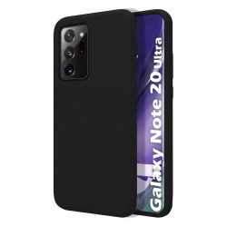 Funda Silicona Líquida Ultra Suave para Samsung Galaxy Note 20 Ultra color Negra