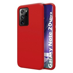 Funda Silicona Líquida Ultra Suave para Samsung Galaxy Note 20 Ultra color Roja