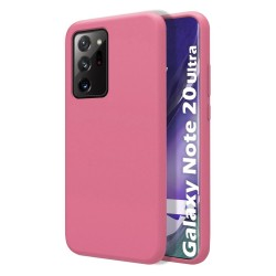 Funda Silicona Líquida Ultra Suave para Samsung Galaxy Note 20 Ultra color Rosa