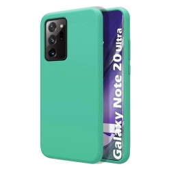 Funda Silicona Líquida Ultra Suave para Samsung Galaxy Note 20 Ultra color Verde