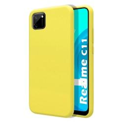 Funda Silicona Líquida Ultra Suave para Realme C11 color Amarilla