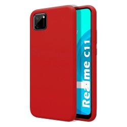 Funda Silicona Líquida Ultra Suave para Realme C11 color Roja