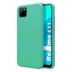 Funda Silicona Líquida Ultra Suave para Realme C11 color Verde